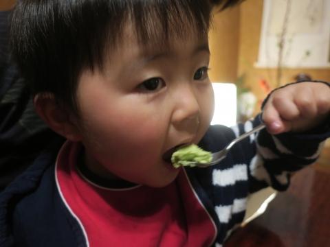 「玲央君、きな粉抹茶アイスを食べる!」④