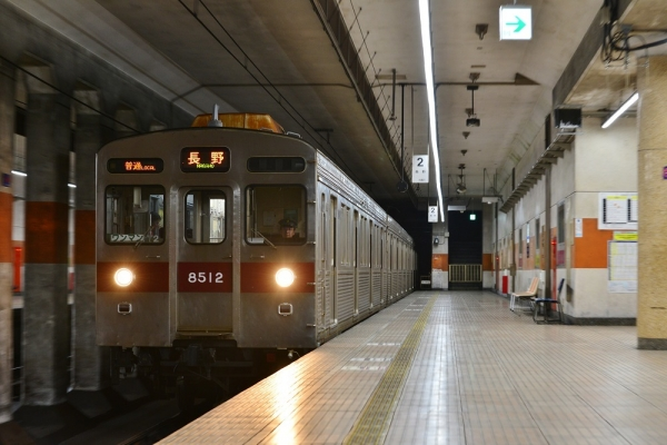 2018年7月13日 長野電鉄長野線 権堂 8500系T2編成