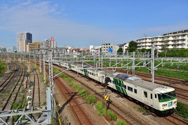 2018年7月14日 JR東日本横浜線 東神奈川~大口 185系B3編成