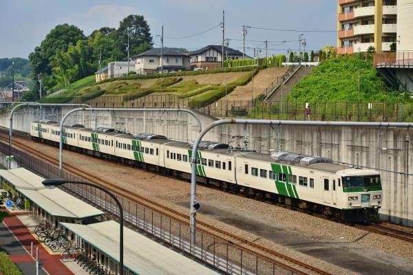 2018年7月15日 JR東日本横浜線 相原~八王子みなみ野 185系B3編成