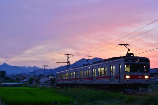 2018年7月24日 上田電鉄別所線 赤坂上~三好町 1000系1001編成