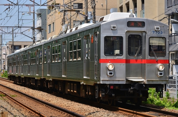2018年8月1日 東急電鉄多摩川線 矢口渡~蒲田 7700系7903F