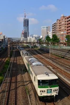 2018年8月5日 JR東日本京浜東北線 横浜~東神奈川 185系B3編成