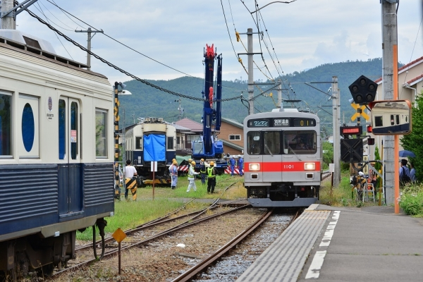 2018年8月13日 上田電鉄別所線 中塩田 7200系7255編成搬出
