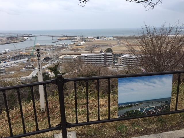 6000人以上が避難した石巻日和山公園からの現在状況
