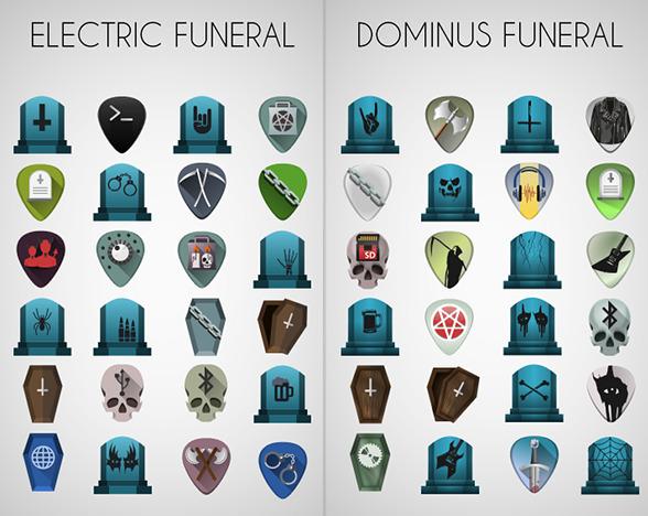 Electric Funeral Ubuntu アイコンテーマ