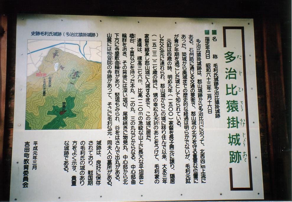 猿掛城 説明板2
