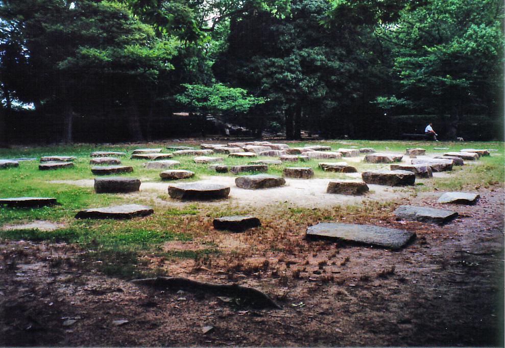 広島城 天守の礎石