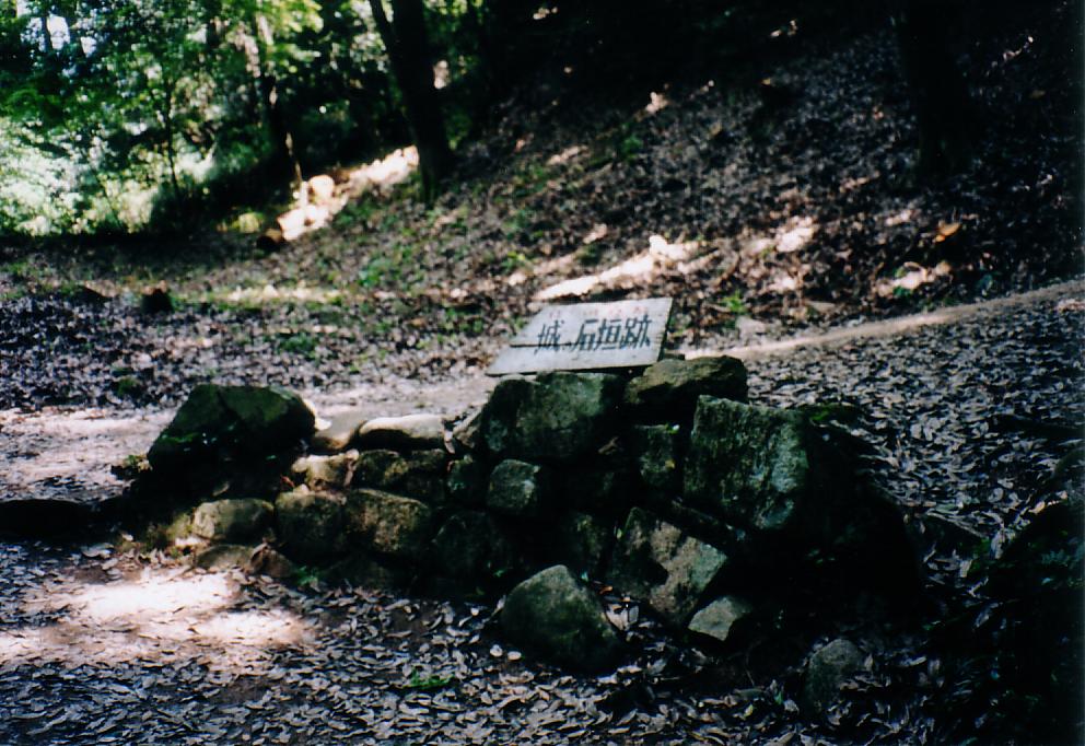 郡山城 石垣跡
